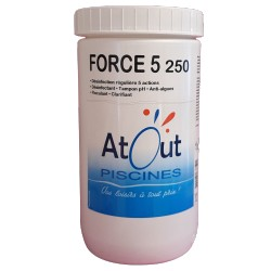 Force 5 chlore multifonctions 1,25Kg Atout Piscines
