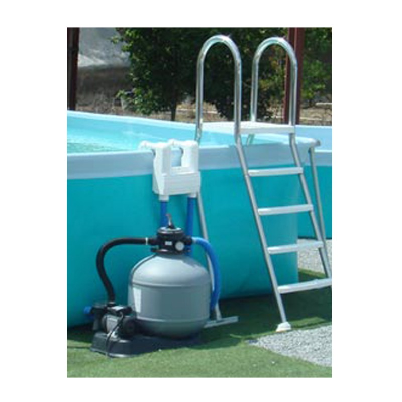 Piscine hors sol tubulaire iaso flipper ronde 3 95 x 1 20 for Piscine 95