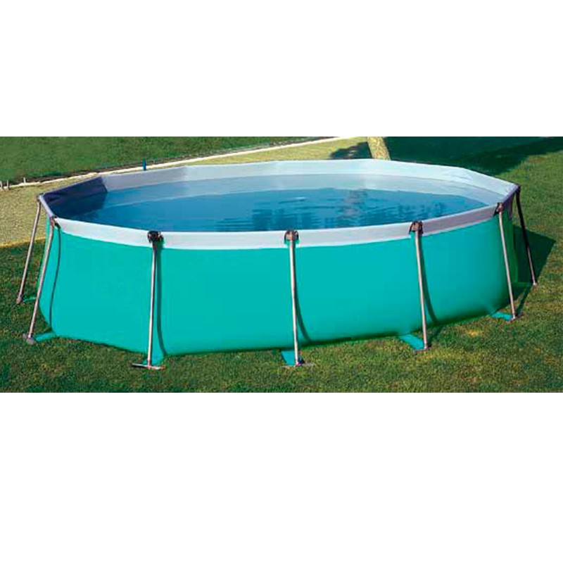Piscine hors sol tubulaire iaso flipper oval 5 3 x 3 5 m m for Piscine 10m3