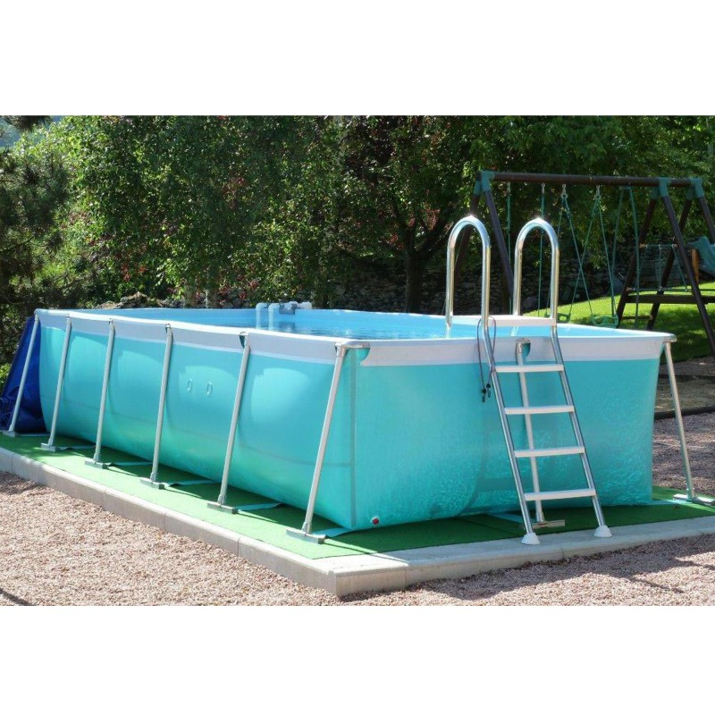 Piscine hors sol tubulaire iason r a 5 53 x 2 25 x 1 10 m for Piscine hors sol tubulaire amazon