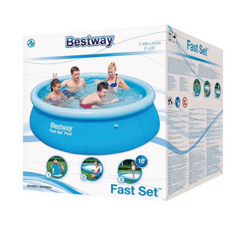 Piscine autoportante cmx66 cm bestway pour la for Piscine 2m44