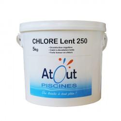 Produit Chlore lent 250grs 5kg