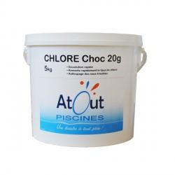 Produit Chlore choc pastilles 20grs 5kg