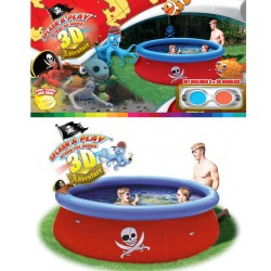 Piscine autoportante pirate 3D Ø2.74 m + filtration