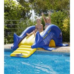 Toboggan gonflable pour piscine