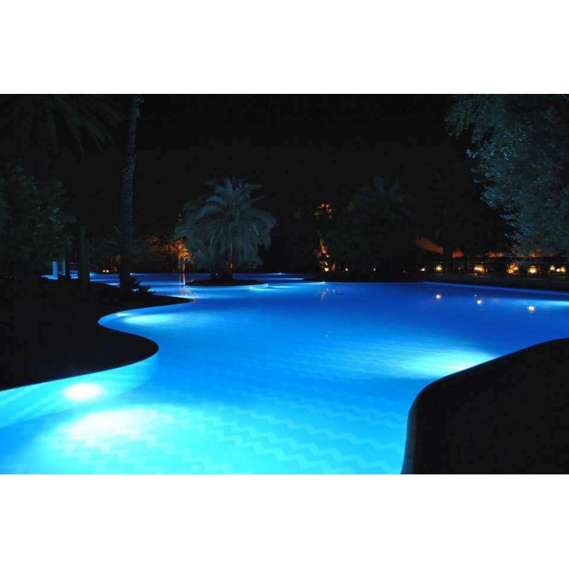 Projecteur led pour piscine lumiere blanche ou multicouleur for Projecteur piscine